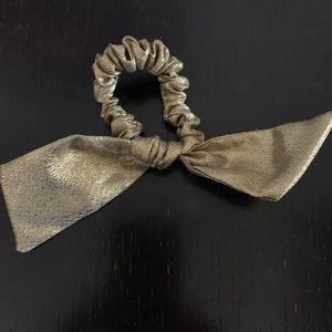 JCrew Gold Hair Scrunchie